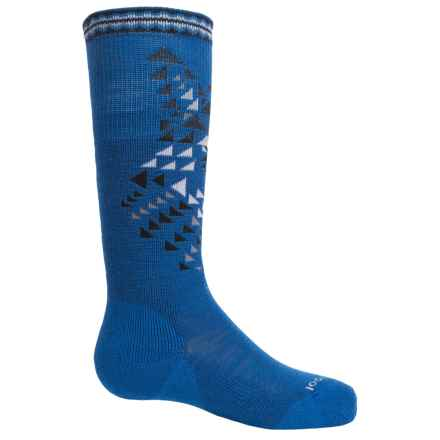 SmartWool Wintersport Wolf Socks - Merino Wool, Over the Calf (For Little and Big Kids) in Bright Blue - Closeouts
