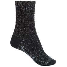 SmartWool Wrapped Cable Socks - Merino Wool, Crew (For Women) in Black - 2nds
