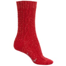 SmartWool Wrapped Cable Socks - Merino Wool, Crew (For Women) in Crimson - 2nds