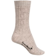 SmartWool Wrapped Cable Socks - Merino Wool, Crew (For Women) in Natural Heather - 2nds