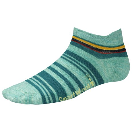 SmartWool Yipes Stripes Low Socks - Merino Wool, Below the Ankle (For Women) in Mineral Heather