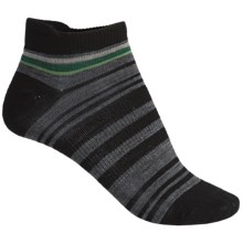 SmartWool Yipes Stripes Low Socks - Merino Wool (For Women) in Black - 2nds
