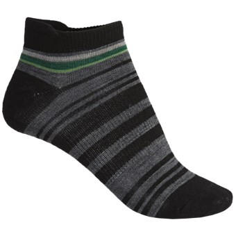 SmartWool Yipes Stripes Low Socks - Merino Wool (For Women) in Black
