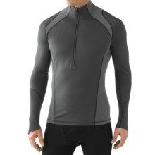 SmartWool Zip T Light 195 Base Layer Top - Merino Wool, Zip Neck, Long Sleeve (For Men) in Graphite - Closeouts