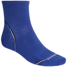 SmartWoolPhD Running Mini Socks - Ultralight, Quarter Crew (For Men and Women) in Royal - 2nds