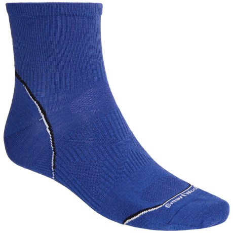SmartWoolPhD Running Mini Socks - Ultralight, Quarter Crew (For Men and Women) in Royal
