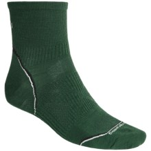 SmartWoolPhD Running Mini Socks - Ultralight, Quarter Crew (For Men) in Evergreen - 2nds