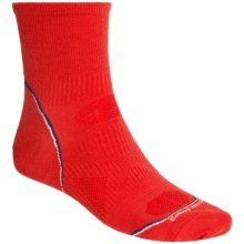 SmartWoolPhD Running Mini Socks - Ultralight, Quarter Crew (For Men) in Sunrise - 2nds