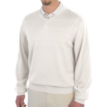 Smith & Tweed Cotton-Cashmere-Silk Sweater (For Men) in White - Closeouts