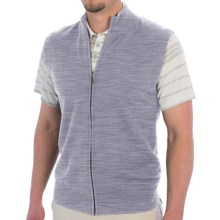 Smith & Tweed Mercerized Merino Wool Vest - Full Zip (For Men) in Light Grey - Closeouts