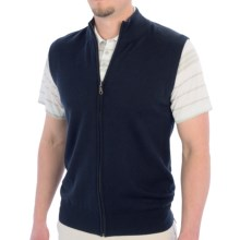 Smith & Tweed Mercerized Merino Wool Vest - Full Zip (For Men) in Navy - Closeouts