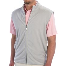 Smith & Tweed Microfleece Vest - Full Zip (For Men) in Light Grey - Closeouts