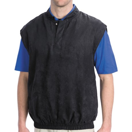 Smith & Tweed Microsuede Vest (For Men) in Black