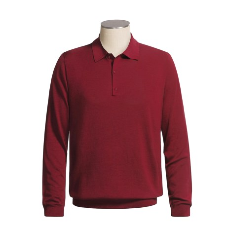 Smith & Tweed Spun Silk Polo Sweater - Long Sleeve (For Men)