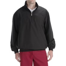 Smith & Tweed Superlight Microfiber Wind Jacket - Zip Neck (For Men) in Black - Closeouts