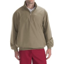 Smith & Tweed Superlight Microfiber Wind Jacket - Zip Neck (For Men) in Khaki - Closeouts