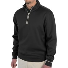 Smith & Tweed Supima® Cotton Blend Sweater - Zip Neck (For Men) in Black - Closeouts
