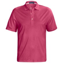 Smith & Tweed TENCEL®-Supima® Cotton Polo Shirt - Short Sleeve (For Men) in Pink - Closeouts