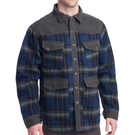 Smith & Wesson Range Shirt Jacket - Flannel Plaid (For Men) in Black/Calvary