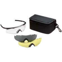 Smith Elite Aegis Compact Shooting Glasses - Three Interchangeable Lenses, Deluxe Kit in Black W/Clear/Grey/Yellow - Closeouts