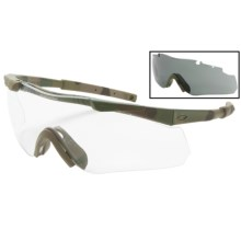 Smith Elite Aegis Eyeshield Multicam Safety Glasses - Interchangeable Lenses in Multicamo W/Clear/Grey - Closeouts