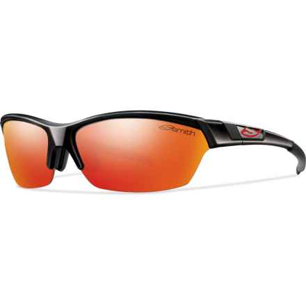 Smith Optics Approach Sunglasses - Interchangeable Lenses (For Men and Women) in Black/Red Sol-X - Closeouts