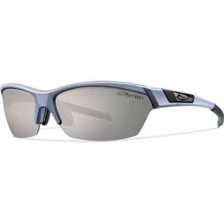 Smith Optics Approach Sunglasses - Polarized, Extra Lenses in Matte Graphite/Polar Platinum - Closeouts
