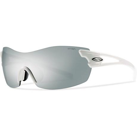 Smith Optics Asana PivLock Sunglasses - Extra Lenses (For Women) in White/Platinum Mirror