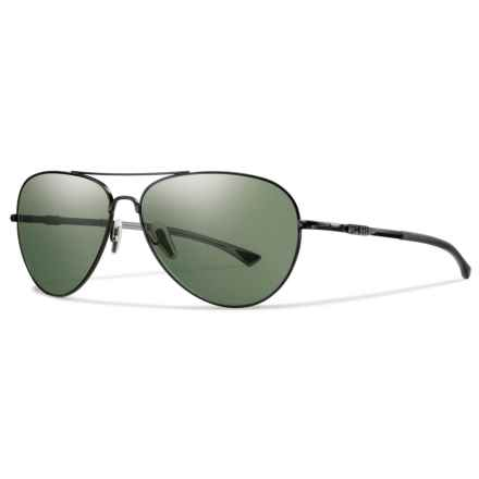 Smith Optics Audible Sunglasses - Polarized Gray-Green ChromaPop® Lenses in Matte Black/Grey/Green - Overstock