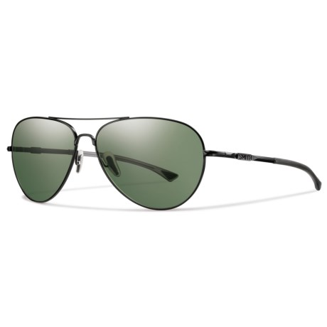 Smith Optics Audible Sunglasses - Polarized Gray-Green ChromaPop® Lenses in Matte Black/Grey/Green