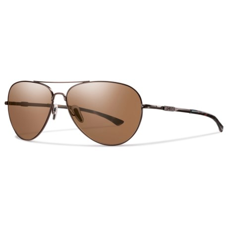 Smith Optics Audible Sunglasses - Polarized Matte Brown ChromaPop® in Matte Brown/Brown