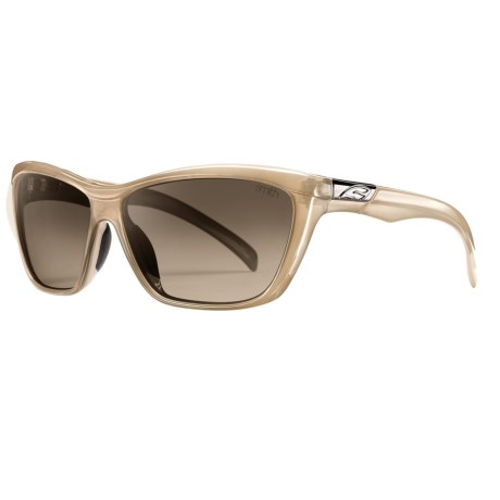Smith Optics Aura Sunglasses (For Women) in Stone/Brown Gradient
