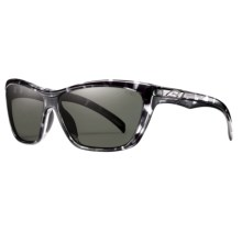 Smith Optics Aura Sunglasses - Polarized (For Women) in Black Tortoise/Grey Green - Closeouts