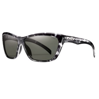 Smith Optics Aura Sunglasses - Polarized (For Women) in Black Tortoise/Grey Green