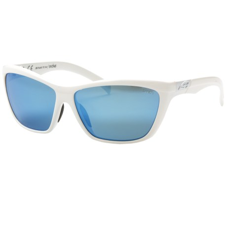 Smith Optics Aura Sunglasses - Polarized (For Women) in White/Blue Mirror