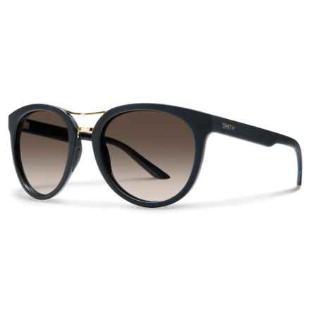 Smith Optics Bridgetown Sunglasses - ChromaPop® Lenses (For Women) in Matte Black/Polarized Brown - Overstock