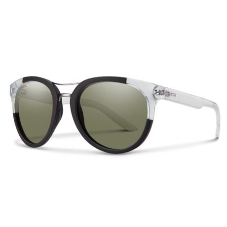 Smith Optics Bridgetown Sunglasses - Polarized ChromaPop® Lenses (For Women) in Matte Black Crystal Block/Gray Green