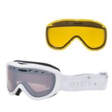 Smith Optics Cadence Ski Goggles (For Women) in White Fridays/White Ignitor Mirror - Closeouts