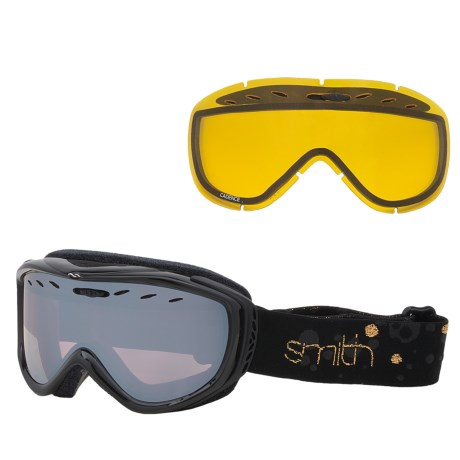 Smith Optics Cadence Snowsport Goggles (For Women) in Black/Gold Fridays/Blue Ignitor Mirror