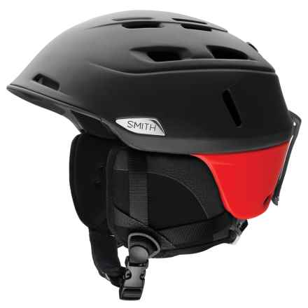 Smith Optics Camber Ski Helmet - Asia Fit in Matte Black/Fire - Closeouts