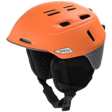 Smith Optics Camber Ski Helmet (For Men) in Matte Solar/Charcoal - Closeouts