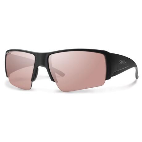 Smith Optics Captains Choice ChromaPop® Sunglasses - Polarized, Polarchromic in Matte Black/Polarchromic Ignitor