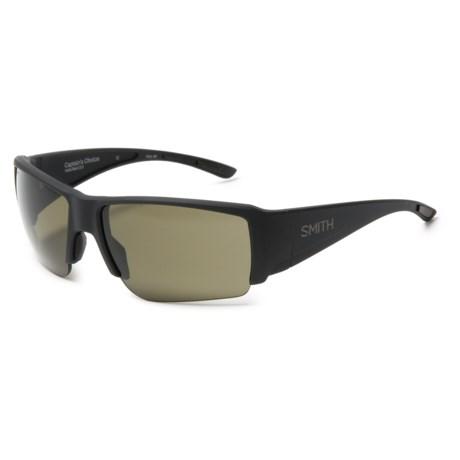 Smith Optics Captains Choice Sunglasses - ChromaPop Polarized Lenses in Matte Black/Chromapop Gray Green