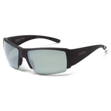 f24e2535ad Smith Optics Captains Choice Sunglasses - ChromaPop Polarized Lenses in  Matte Black Platinum - Overstock