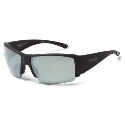 Smith Optics Captains Choice Sunglasses - ChromaPop Polarized Lenses in Matte Black/Platinum - Overstock