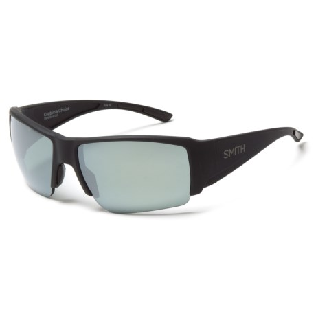 bdd99a34f2 Smith Optics Captains Choice Sunglasses - ChromaPop Polarized Lenses in  Matte Black Platinum