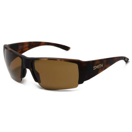 Smith Optics Captains Choice Sunglasses - ChromaPop Polarized Lenses in Matte Havana/Chromapop Brown