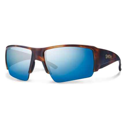 Smith Optics Captains Choice Sunglasses - ChromaPop Polarized Lenses in Matte Havanna/Blue - Overstock