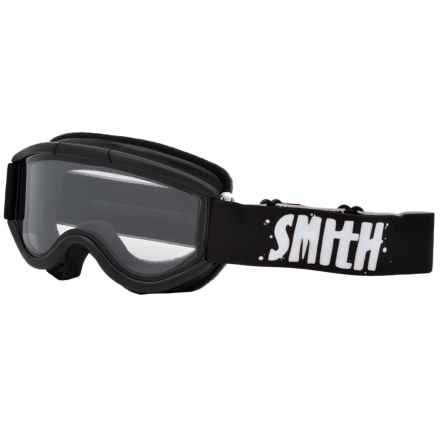 Smith Optics Challenger OTG Ski Goggles (For Little and Big Kids) in Black/Clear - Closeouts