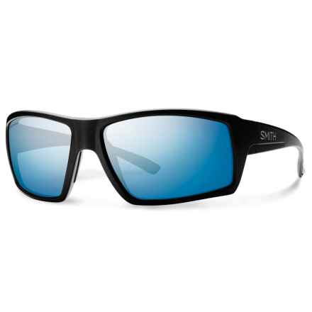 Smith Optics Challis Sunglasses - Polarized ChromaPop® Lenses in Matte Black/Blue - Overstock